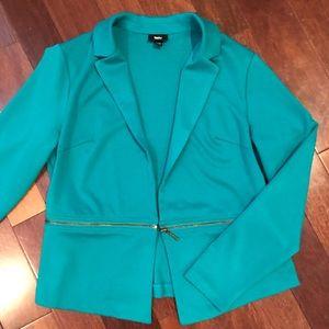 Mossimo teal green blazer